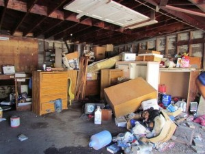 Removing Junk Out of Garage in Alpharetta