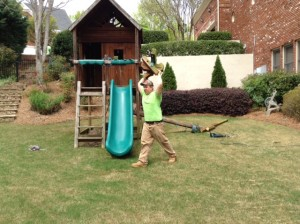 removing swing set